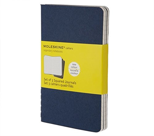 Moleskine Moleskine Cahier Pocket Squared Journal Blue