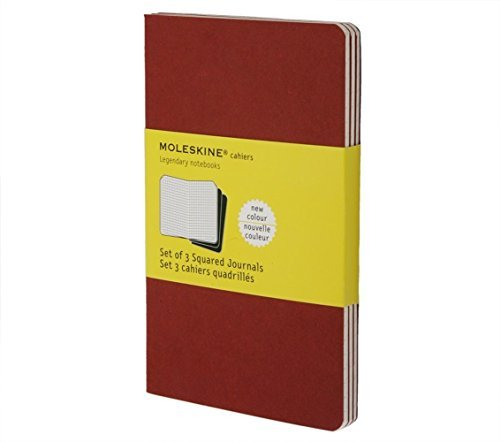 Moleskine Moleskine Cahier Large Squared Journal Red