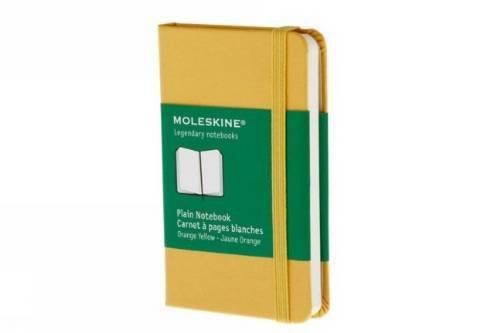 Moleskine Moleskine Plain Extra Small Orange Yellow Notebook