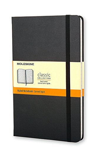 Moleskine Black Med Ruled Notebook