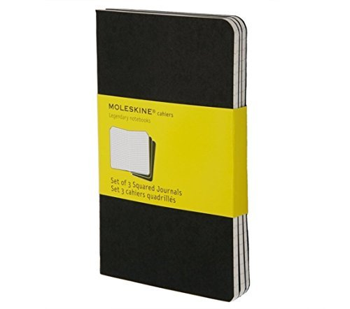 Moleskine Moleskine Cahier Journal (set Of 3) Large Square Set Of 3 Square Journals