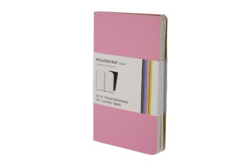 Moleskine Moleskine Volant Set Of 2 Ruled Notebooks Pink
