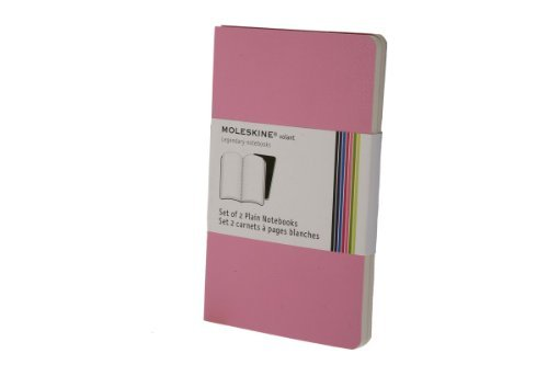 Moleskine Moleskine Volant Set Of 2 Plain Notebooks Pink