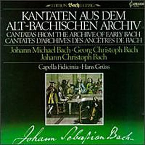 J.S. Bach Cant From The Archive Of Early Gruss Capella Fidicinia