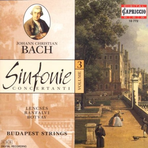 J.C. Bach Sinf Con Vol. 3 Budapest Strs