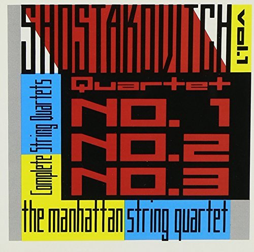 Dmitri Shostakovich String Quartets Vol. 1 Manhattan Str Qt