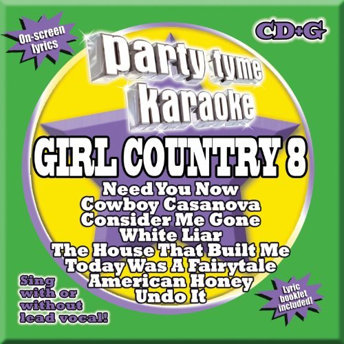 Party Tyme Karaoke Vol. 8 Girl Country Incl. Cdg 8+8 Song