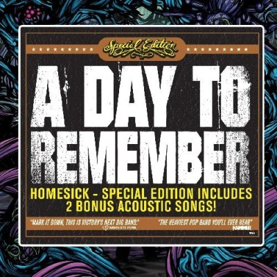 Day To Remember Homesick Rerelease Incl. Bonus Tracks