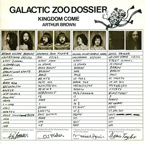 Arthur Brown Galactic Zoo Dossier Import Gbr