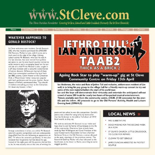 Ian Anderson Thick As A Brick 2