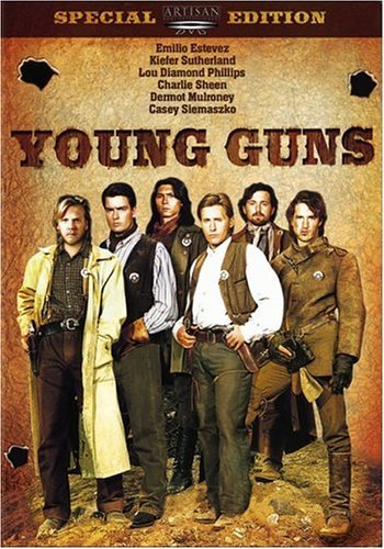 Young Guns Estevez Sutherland Phillips DVD R Ws