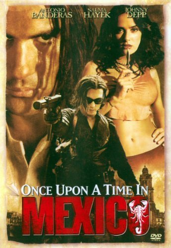 Once Upon A Time In Mexico Banderas Depp Hayek