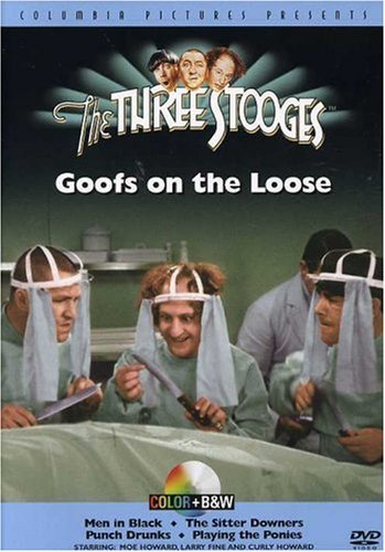 Goofs On The Loose Three Stooges Clr Bw Nr