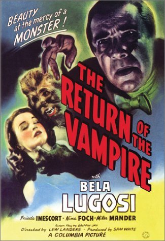 Return Of The Vampire Lugosi Inescort Foch Mander DVD Nr