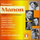 J. Massenet Manon Hlts (1939) Teyte Noble Nash Roninson Bbc Theatre Orch & Ch