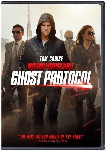 Mission Impossible Ghost Protocol Cruise Renner Pegg Patton DVD Dc Pg13 Ws