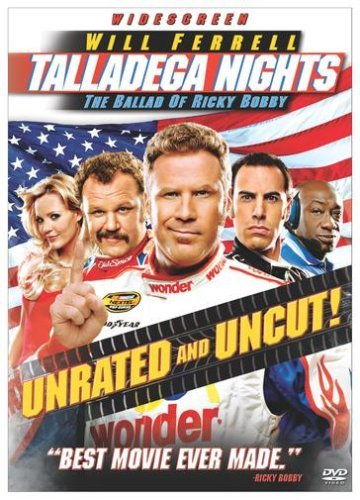 Talladega Nights Ballad Of Ricky Bobby Ferrell Cohen DVD Unrated Ws