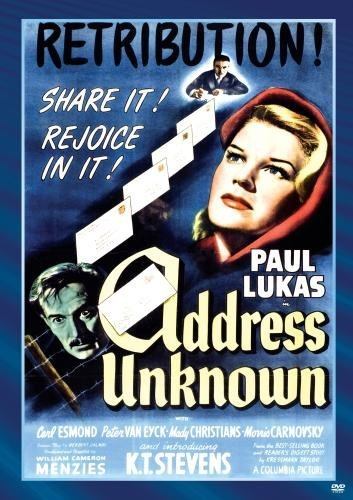 Address Unknown Lukas Stevens Esmond DVD Mod This Item Is Made On Demand Could Take 2 3 Weeks For Delivery
