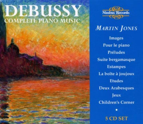 Claude Debussy Complete Piano Music Jones*martin (pno) 5 CD