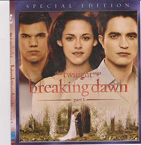 Twilight Breaking Dawn Part 1 Pattinson Stewart Lautner Blu Ray Special Edition Pg13 Ws