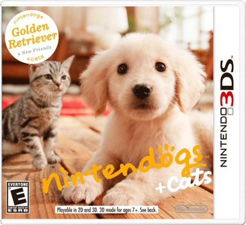 Nintendo 3ds Nintendogs + Cats Golden Retriever