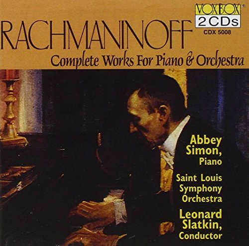 S. Rachmaninoff Con Pno 1 4 Comp Rhaps Paganin Simon*abbey (pno) Slatkin St. Louis So