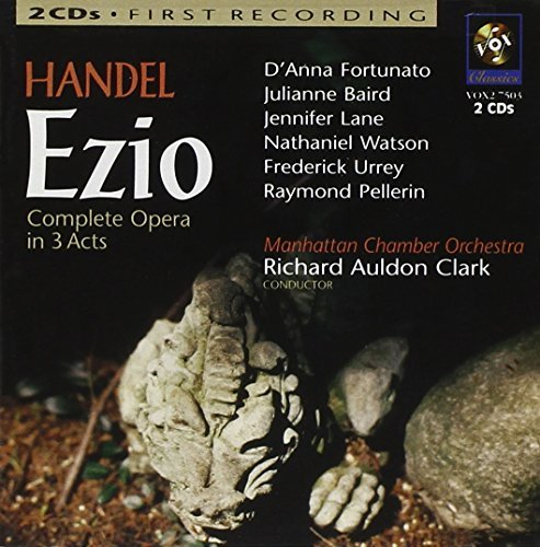 George Frideric Handel Ezio Comp Opera Clark Manhattan Co