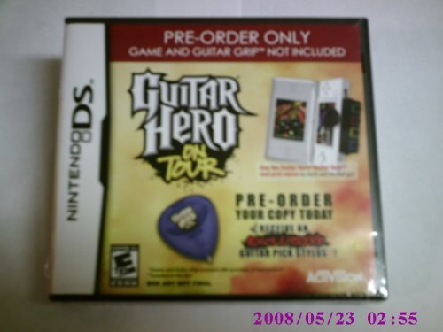 Nintendo Ds Guitar Hero On Tour Exclusive Guitar Pick Stylus