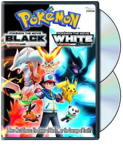 Pokemon The Movie Black Victini & Reshiram White Vicinti & Zekrom DVD Nr