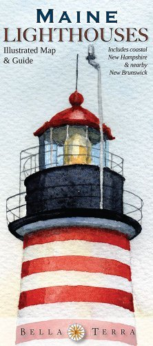 Bella Terra Publishing Maine Lighthouses Illustrated Map & Guide