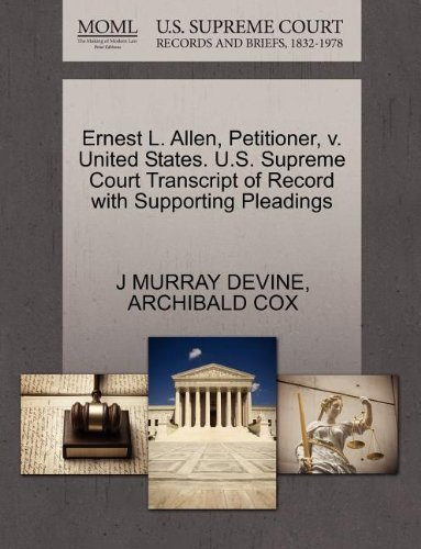Devine J. Murray Ernest L. Allen Petitioner V. United States. U.S