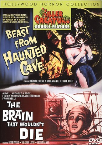 Beast From Haunted Cave Brain Killer Creatures Double Featur Clr Nr 2 On 1