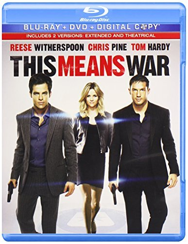 This Means War Witherspoon Pine Hardy Blu Ray Ws Pg13 Incl. DVD Dc