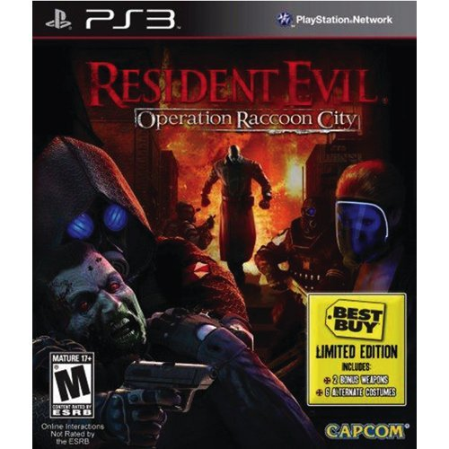 Ps3 Resident Evil Operation Raccoon City Best Buy Limited Edition