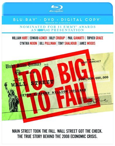 Too Big To Fail Hurt Asner Crudup Blu Ray Ws Nr Incl. DVD Dc