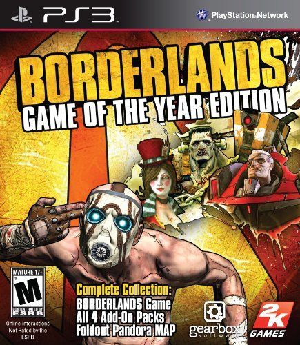 Ps3 Borderlands Game Of The Year Take 2 Interactive M