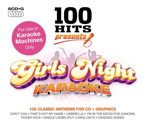 100 Hits Karaoke Girls Night Import Gbr 5 CD