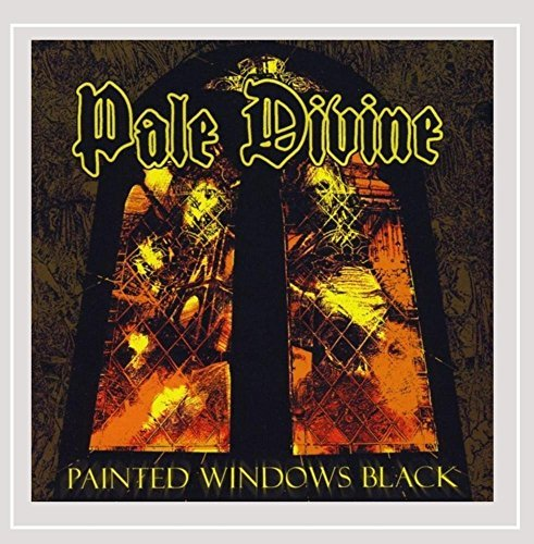 Pale Divine Painted Windows Black