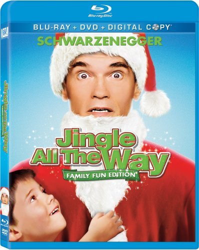Jingle All The Way Schwarzenegger Sinbad Belushi Blu Ray DVD Dc Pg