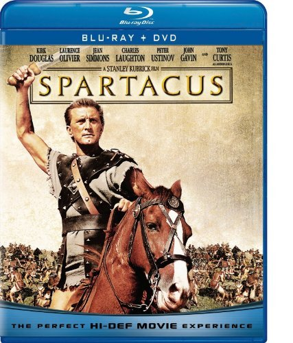 Spartacus Douglas Olivier Simmons Laught Blu Ray Ws 100th Anniv. Ed. Nr Incl. DVD Dc
