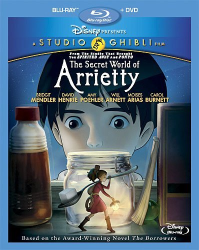 Secret World Of Arrietty Studio Ghibli Blu Ray DVD G