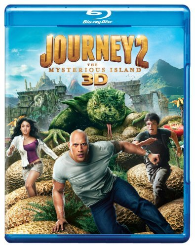 Journey 2 The Mysterious Island Johnson Caine Hutcherson 3d Blu Ray Ws Pg Incl. 2 Br DVD Uv