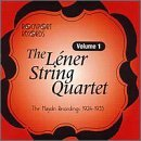 Lener String Quartet Vol. 1