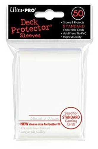Card Sleeves White Standard 50 Pack