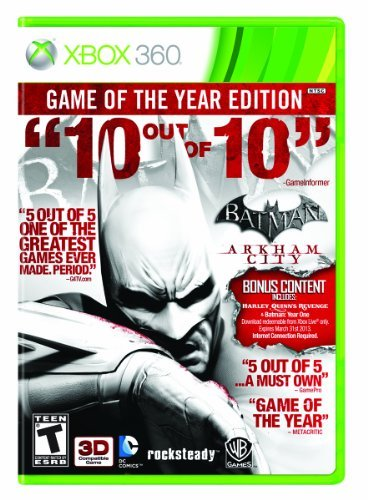 Xbox 360 Batman Arkham City Game Of Th Whv Games T