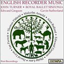 Lane Arnold Pitfield & English Recorder Music Turner*john (rcr) Sutherland & Gregson Royal Bal
