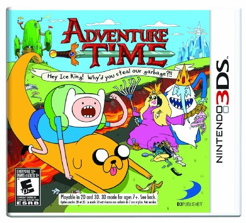 Nintendo 3ds Adventure Time Hey Ice King! Why's You Steal Our Garbage?!!