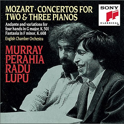 Wolfgang Amadeus Mozart Concertos For 2 & 3 Pianos Perahia (pno) Lupu (pno) English Co