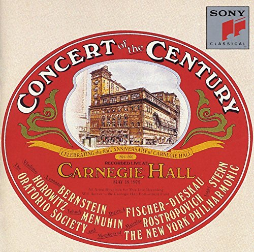 Concert Of The Century 85th Anniversary Carnegie Hall Bernstein Horowitz Stern + Members Of New York Po