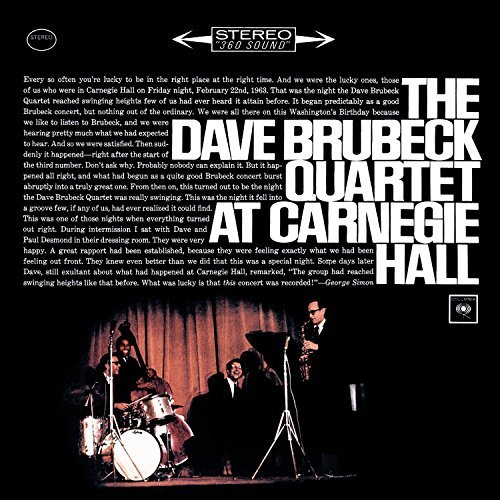Dave Quartet Brubeck At Carnegie Hall 2 CD Set